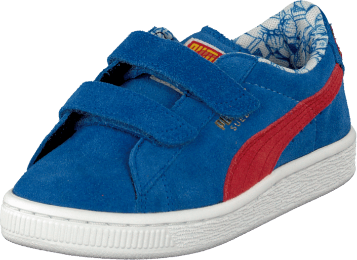 sports shoes 1bb5a b647d Suede Superman V Kids Blue/Red