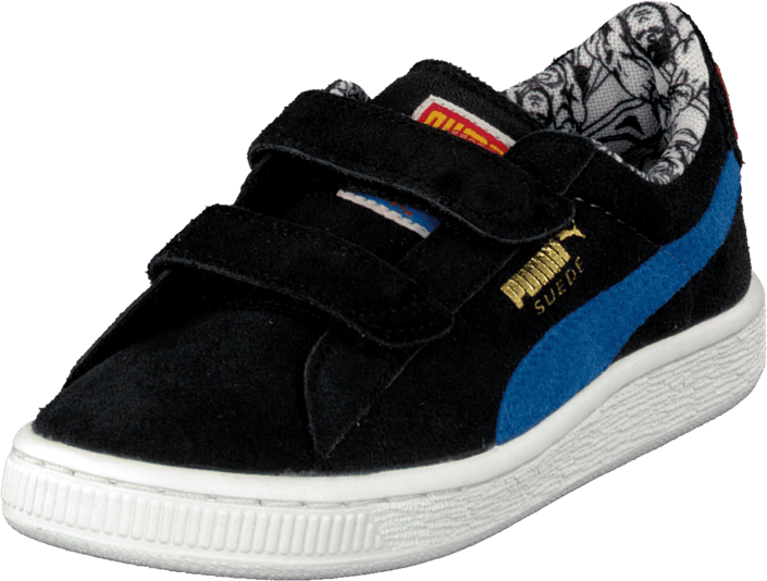 Suede Superman V Kids BlkBlue