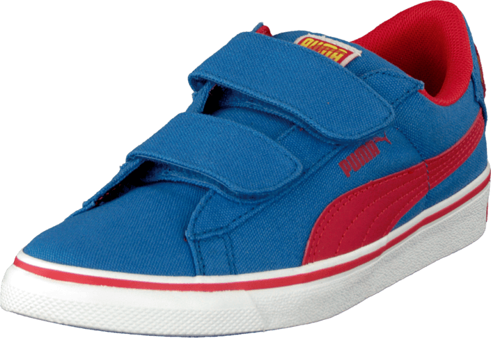 Puma - Puma S Vulc Cvs Superman Kids Strong Blue-High Risk Red