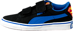 Puma S Vulc Cvs Superman Kids Black-Strong Blue-Buttercup