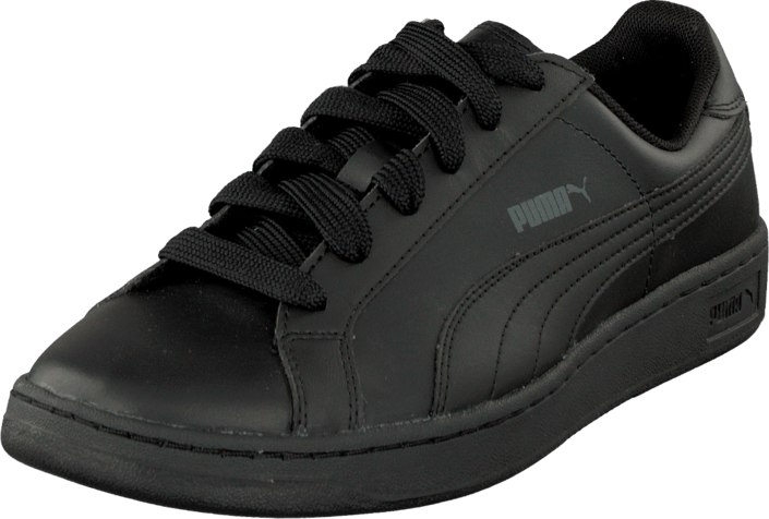 Puma Smash L Jr Black Black Dark Shadow