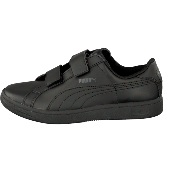 Puma Smash L V Kids Black Black Dark Shadow