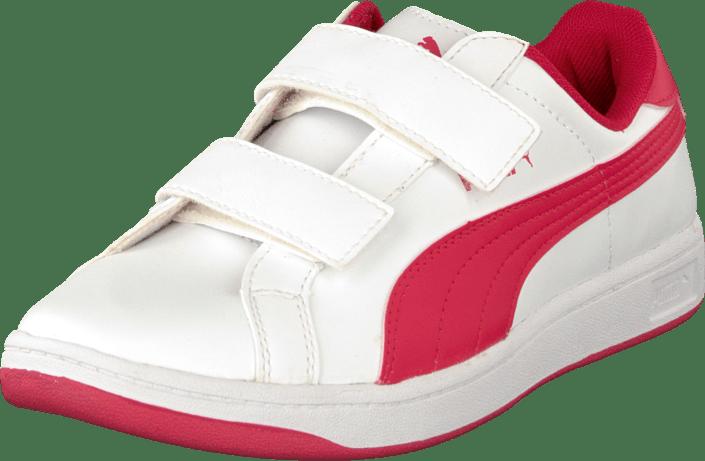 Puma - Puma Smash L V Kids White-Geranium
