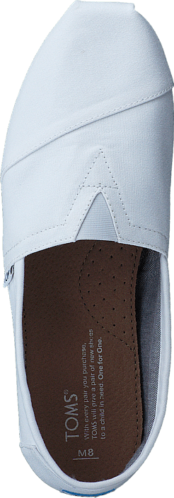 6303f41b615 Buy Toms Seasonal Classics Optic White Canvas white Shoes Online ...