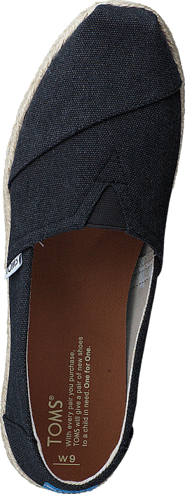 Toms Seasonal Classics Black Washed Canvas Rope Sole 415895479