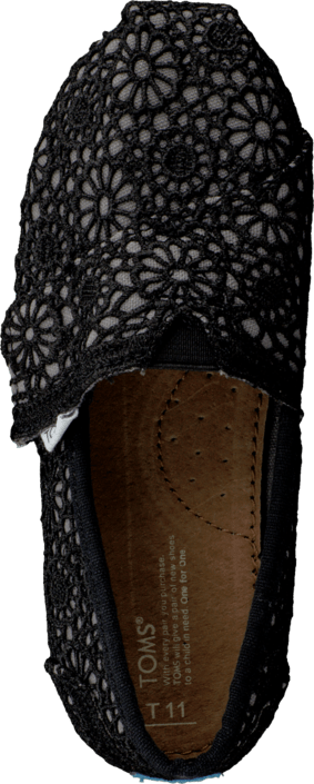 Toms - Classics Kids Black Crochet