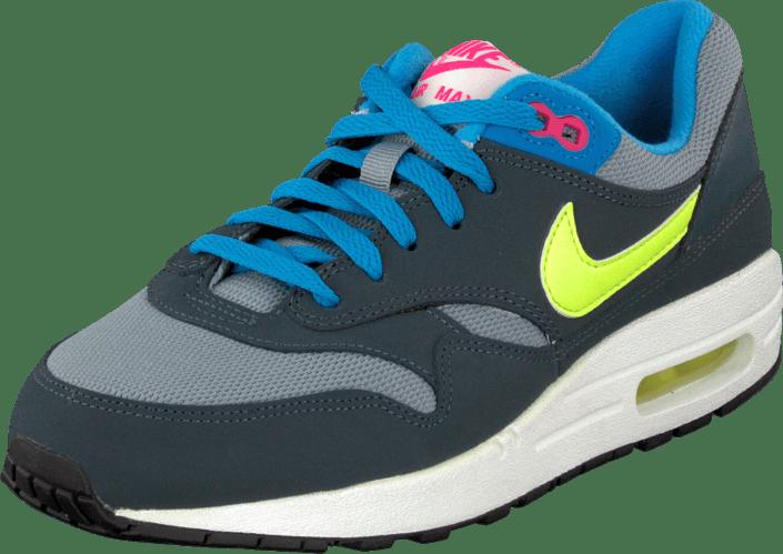 Köp Nike Köp Nike Nike Air Max 1 (GS) Gray Volt Pink Skor Online Skor Online