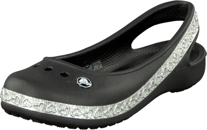 ebdc862e3326 Buy Crocs Genna II Hearts Flat GS Black grey Shoes Online