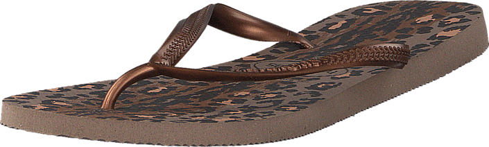 102a178a77a843 Buy Havaianas Slim Animals Rose Gold Dark Copper brown Shoes Online ...
