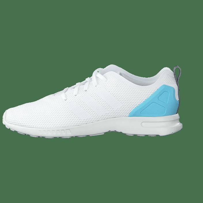 0b7b671d5bf92 Buy adidas Originals Zx Flux Smooth W Core White Blush Blue white Shoes  Online