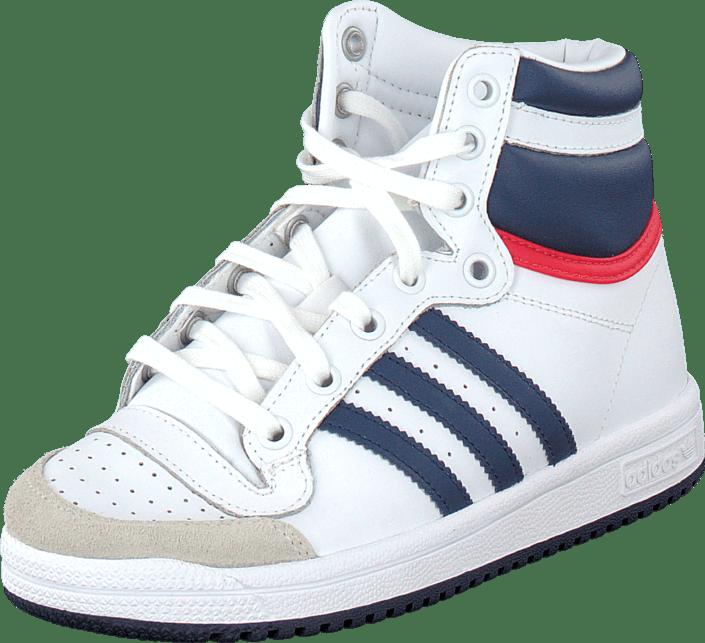 adidas Originals - Top Ten Hi C Ftwr White/Dark Blue/Power Red