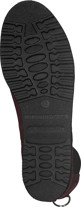 Ilse Jacobsen - Short Rubberboot Flat Sole Wine