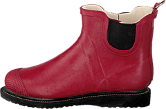 Short Rubberboot Flat Sole Wine