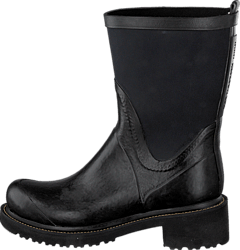 Rubber Boot With Neoprene Shaft Black