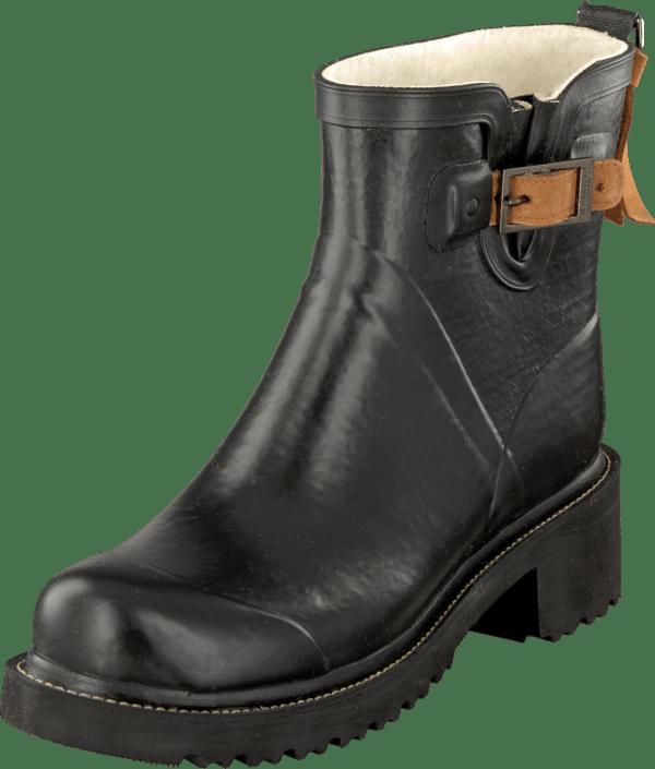 WOMEN RUBBER BOOTS SHORT 001 Black