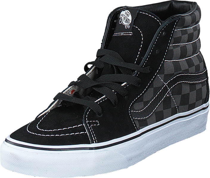 Buy Vans Sk8-Hi (Checkerboard) Black Pewter black Shoes Online ... e8ff43b50