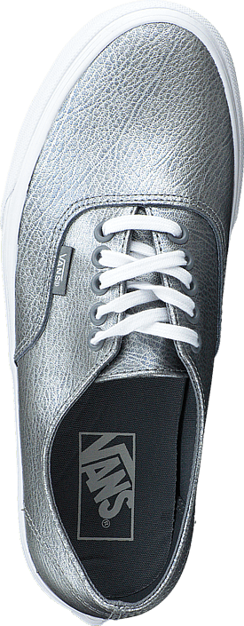 2a0b2f069465ab Buy Vans Authentic Decon (Metallic Leather) Gray blue Shoes Online ...