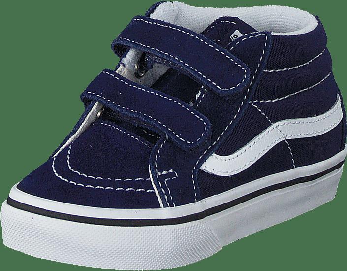 91d25bd53cf6 Buy Vans SK8-Mid Reissue V Patriot Blue True White blue Shoes Online ...