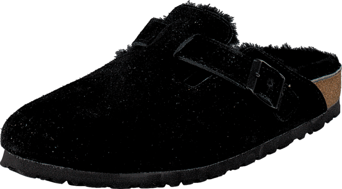 Birkenstock - Boston Black Sheepskin Black
