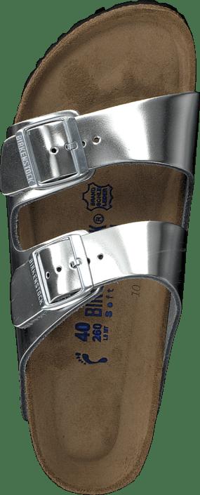 Birkenstock - Arizona Metallic Silver Slim
