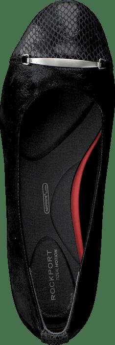 Kjøp Rockport Total Motion Layer Captoe Black Sparkle Suede Sko Online