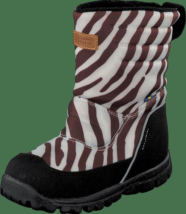 Kavat Voxna WP vit multi (zebra) bruna Skor Online