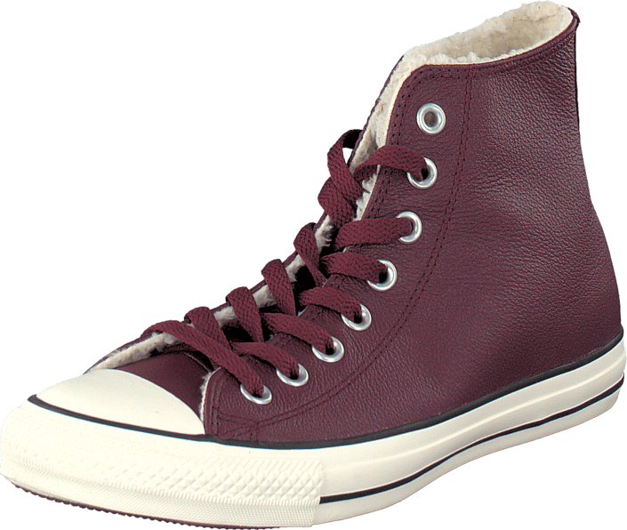 All Star Leather Shearling Deep Bordeaux/Natural/Egret