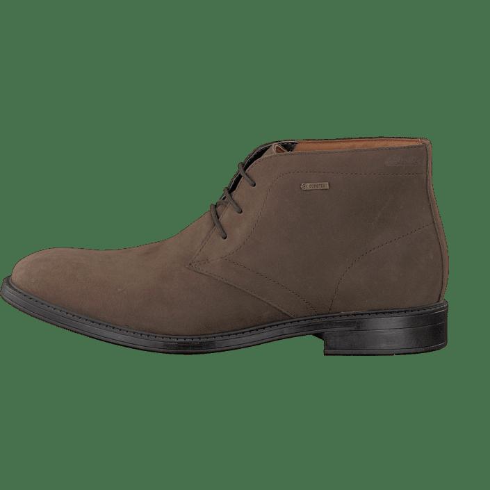 80ef26c4b9042 Buy Clarks Chilver Hi GTX Dark Brown Nub brown Shoes Online | FOOTWAY.co.uk