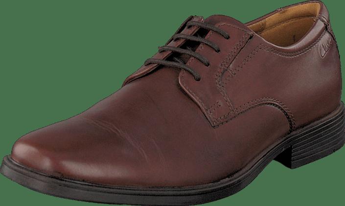 Clarks Tilden Plain brun Leather bruna Skor Online