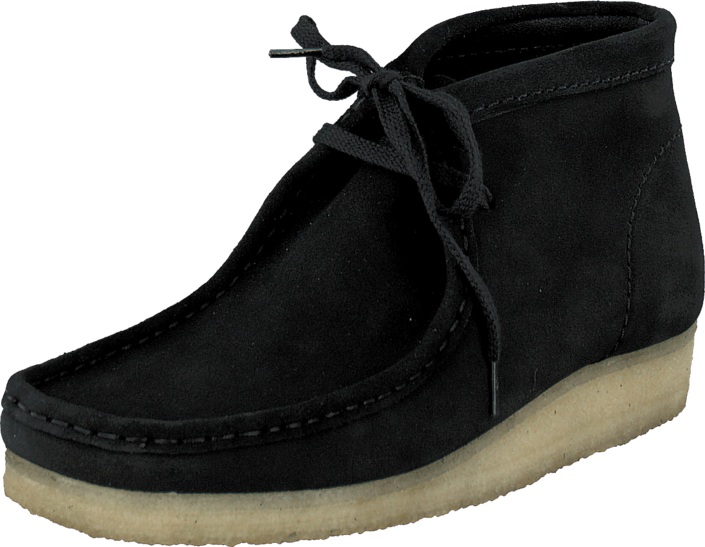 Clarks Wallabee Boot Black Sde Shoes