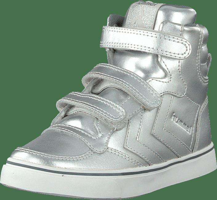 Hummel - Hummel Stadil Metallic Jr Hi Silver
