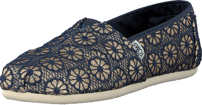 Wm Seasonal Classic Gold Navy crochet glitter