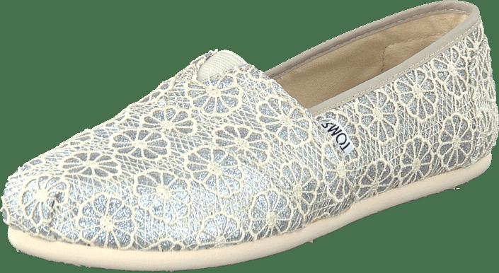 Buy Toms Wm Seasonal Classic Silver Crochet Glitter Brown Shoes