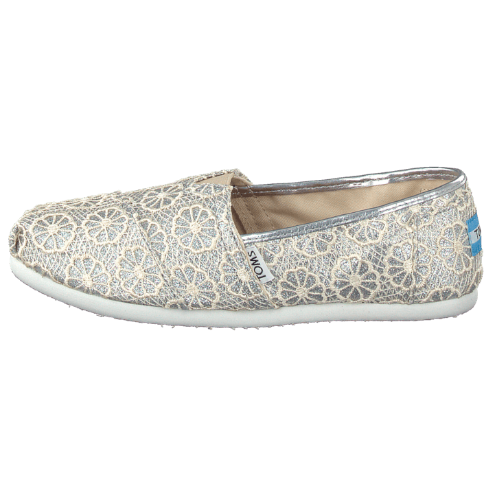 Kjøp Toms Seasonal Classics Silver Crochet Glitter sko