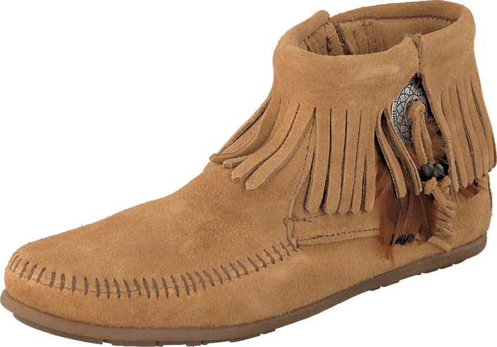 Concho Feather Boot Taupe