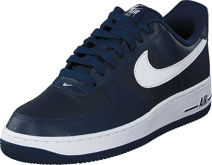 Nike Air Force 1 Midnight Navy vit Mid Navy blåa Skor Online