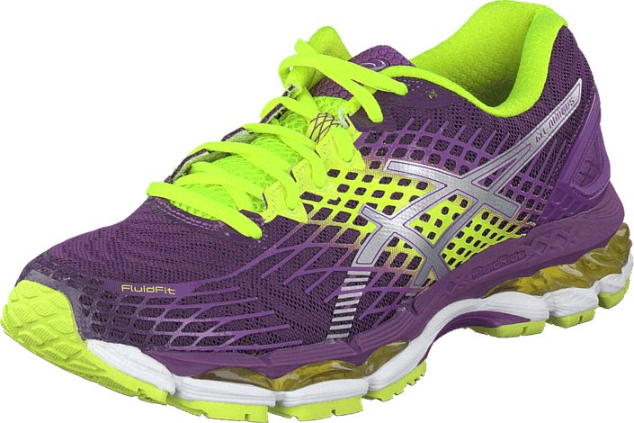 le dernier 60ab0 34d9b Buy Asics Gel Nimbus 17 Plum/Silver/Flach Yellow green Shoes ...