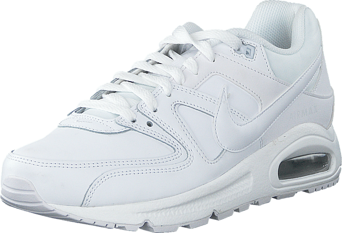 online store 2136b 93399 ... shop nike nike air max command leather white white metallic silver  d61da 6a613