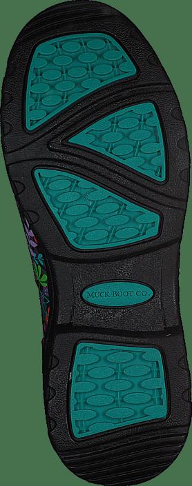 Muckboot - Breezy Mid Black/Flowers