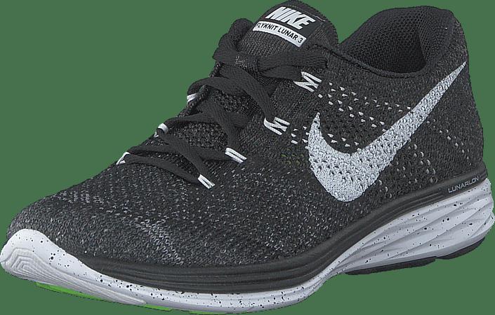 Nike - Wmns Nike Flyknit Lunar3 Black/White-Mdnght Fog-Wlf Gry