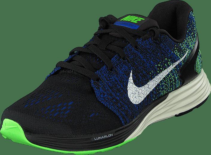 Nike - Nike Lunarglide 7 Black/Sail-Racer Blue-Vltg Grn