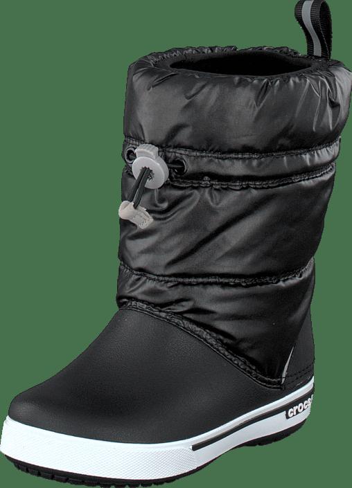 Acheter Crocs Crocband Iri Gust Boot Kids Black White Noires ... a9613861eea1