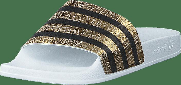 finest selection fb031 e9d29 adidas Originals - Adilette W Gold Met. Ftwr White