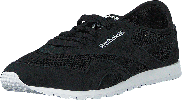Reebok CL Nylon Core BlackCoalWhite Girl Shoes