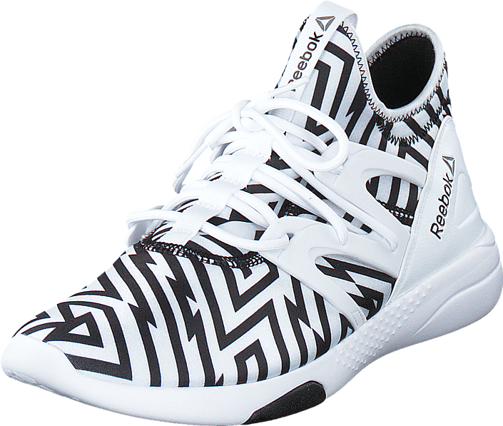 Kjøp Reebok Hayasu White Black Graphic Stripes hvite Sko Online ... 126cd147ac