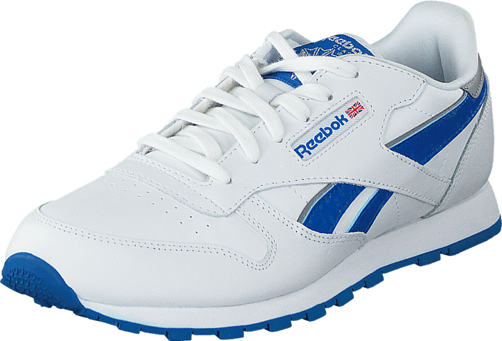 big sale 48c35 9babf Reebok Classic - Cl Leather Reflect White Blue Sport Silver Met