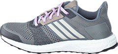 Ultra Boost St  W Grey/Chalk White/Purple Glow