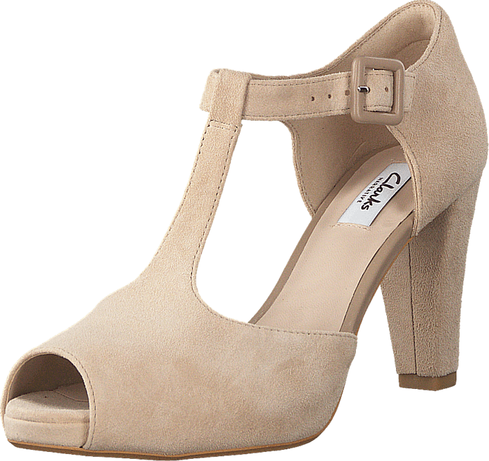 7185f4bf75d Buy Clarks Kendra Flower Sand Suede beige Shoes Online
