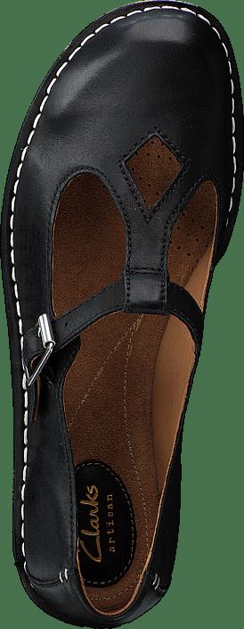 8d1e23712579 Buy Clarks Tustin Talent Black Leather black Shoes Online