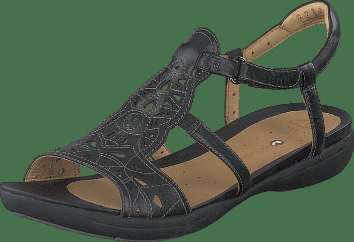 67cd2edc99a Buy Clarks Un Valencia Black Leather brown Shoes Online